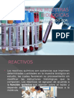 Reactivos en Muestras Biologicas
