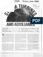 Steam Turbines and Aux POWER MAG 1989
