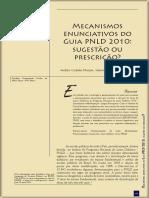 Mecanismos Enunciativos no Guia PNLD 2010