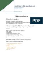 Objetos Oracle