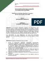Reglamento de Edificacion Para El Municipio de Tijuana Baja California