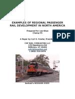 examples of regional rail developments in north america