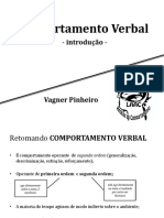 Comportamento Verbal Introd