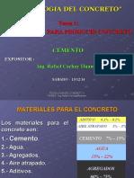 Cemento Para El Concreto - Ing. Cachay - Participantes