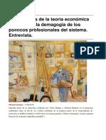 Hudson Michael (Entrevista Sin Permiso) 2 Las Mentiras de La Teoría Económica Neoliberal y La Demagogia de Los Politicos Profesionales Del Sistema