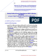 Weekly Political Events Regarding the SPDC's Election (014-2010)