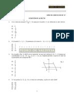 MA27E Ejercicios - Ecuación de La Recta (2)