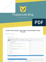 Module 5 B4A Sample Login Program Using Database SQLite Browser – Puppycode Blog