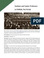 Publish Not Perish