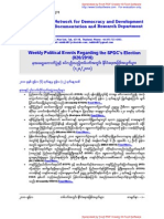 Weekly Political Events Regarding the SPDC's Election (020-2010)
