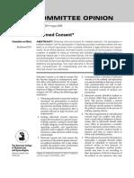 Informed Consent Journal