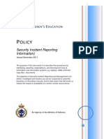 Security Incident Reporting 1