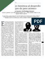 REFERENCIA HISTORICA DEL PESO ATOMICA