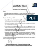SWMS 71 - Use of Curing Chemical