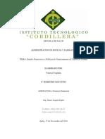 Estados Financieros y Políticas de Financiamiento de Capital de Trabajo