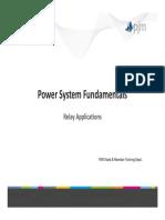 Power System Fundamentals - Relay Application