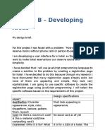 criteria b - devlopind ideas by suhaas