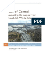 Mounting Damages From Coal Ash Waste Sites