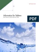 Informatica for Tableau Best Practices to Derive Maximum Value Brochure 3012