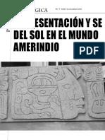 Representación y Sentido Del Sol en Las Culturas Amerindias