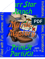 00131  Murder Mystery Game Party - Bar Starr Ranch Party Game and Kit for Boys ages 12 to 14 for 15 players