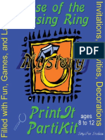 00145  Mystery Party Game for Twin Girls - Case of the Missing Ring Mystery Party Game and Kit for 10 girls ages 9 to 12 and 2 adults or older teens.  Theme can be an overnight or one day event.