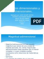 Constantes Dimensionales y Adimensionales