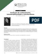 Produção de Conhecimento, Interdisciplinariedade e Estruturalismo