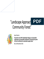 Landscape approach on community forest