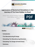 Significance of Simulation in the Journey of Tire From Rubber to Road