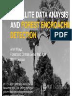 Satellite data analysis and forest encroaching data