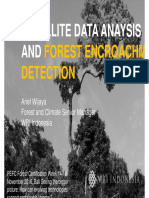Satellite data analysis and forest encroaching data