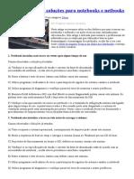 Top 10 Defeitos e Soluções Para Notebooks e Netbooks