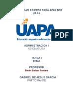 tarea 1 administracion 1 uapa