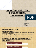 Approaches to Educational Technology