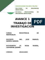 Avance1 Resistenciademateriales2016-II