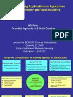 02 Nov 2015_ Remote Sensing Applications in Agriculture _Dr. Nrpatel