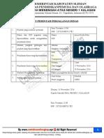 Contoh Surat Perintah Perjalanan Dinas (SPPD)
