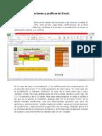 Tabla de Calificaciones y Graficas en Excel