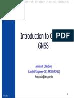 07 Sep, 2015 Introduction to GPS and GNSS -Shri Ashutosh Bhardwaj