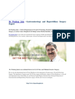 >Dr Pradeep Jain - Chief Of Dept. of GI At Action Cancer Hospital