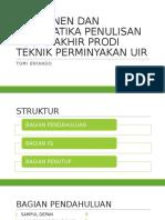Bab 4-Komponen Dan Sistematika Penulisan Tugas Akhir Prodi Teknik
