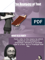 Anatomy of Text and Fonts