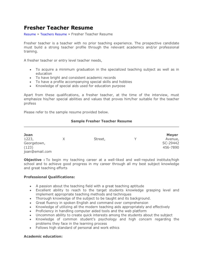 77455265 fresher teacher resume sushil pdf