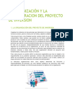 La Organización y La Administracion Del Proyecto de Inversion (1)