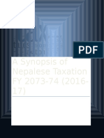 A Synopsis of Nepal Tax