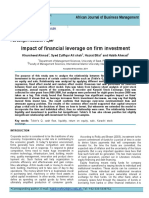 Kelompok 2 - Impact of Financial Leverage on Firm Investment