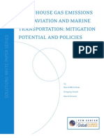 Aviation and Marine Transportation - GHG Mitigation Potential and Challenges
