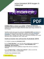 Activar Productos Autodesk 2015 Keygen XForce