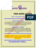 Rupee Gains Free News Letter for 7th November 2016